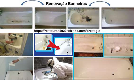 Renovação, restauro de banheiras.
