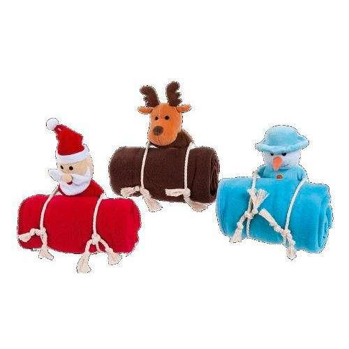 Blanket natal com toy corda para cães e gatos