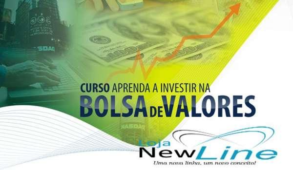 Curso online aprenda a investir na bolsa de valores - produto exclusivo loja new line