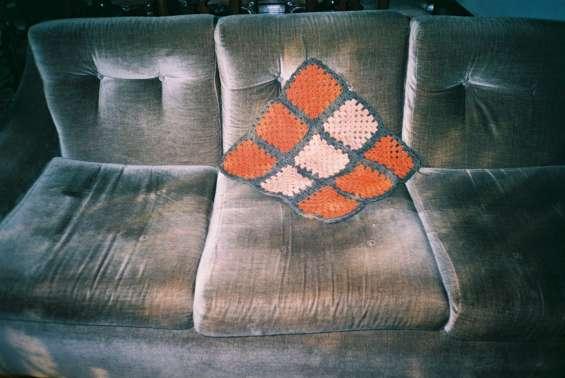 Almofada decorativa, em crochet.
