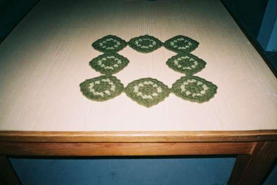 Moldura decorativa em crochet