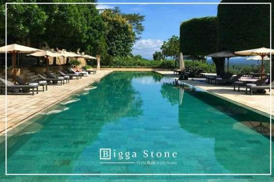 Best natural green sukabumi - wonderful bali pool stone tiles portugal